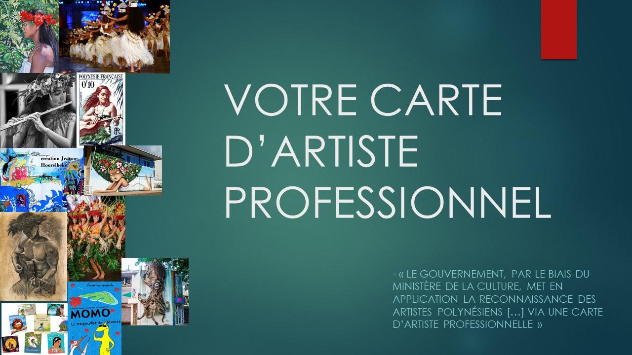 CARTE D'ARTISTE PRO
